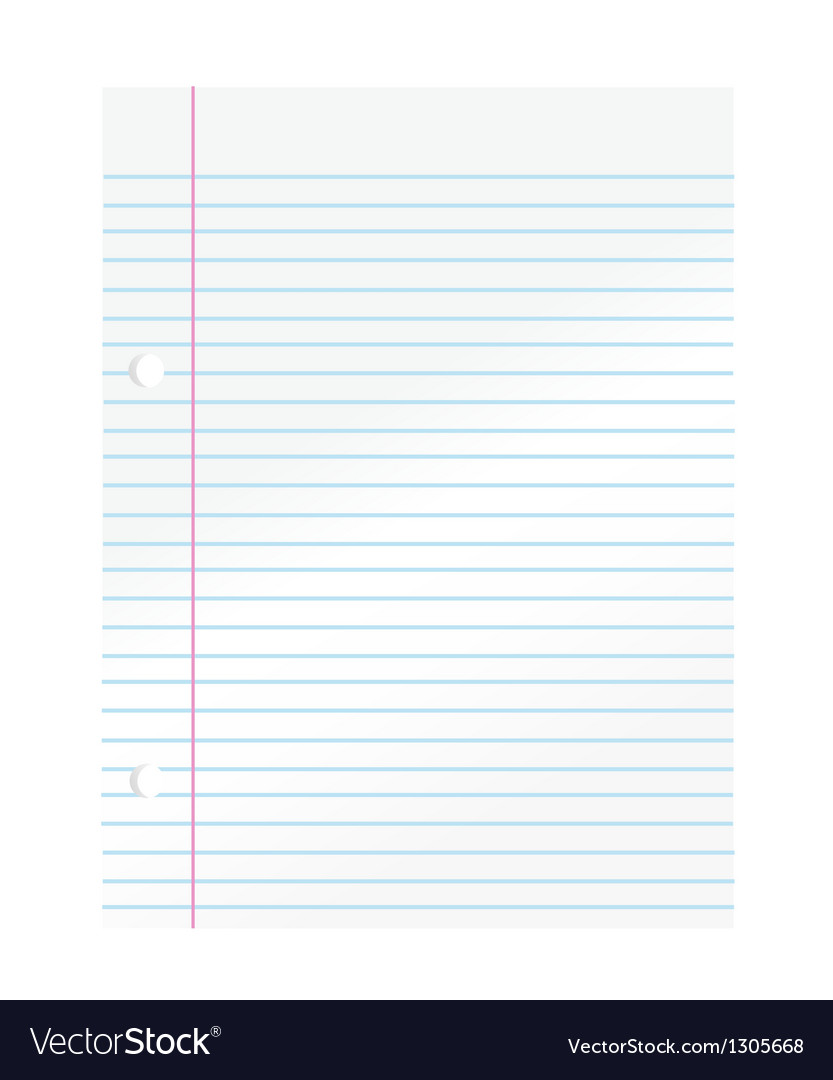 Notepad paper vector | Price: 1 Credit (USD $1)