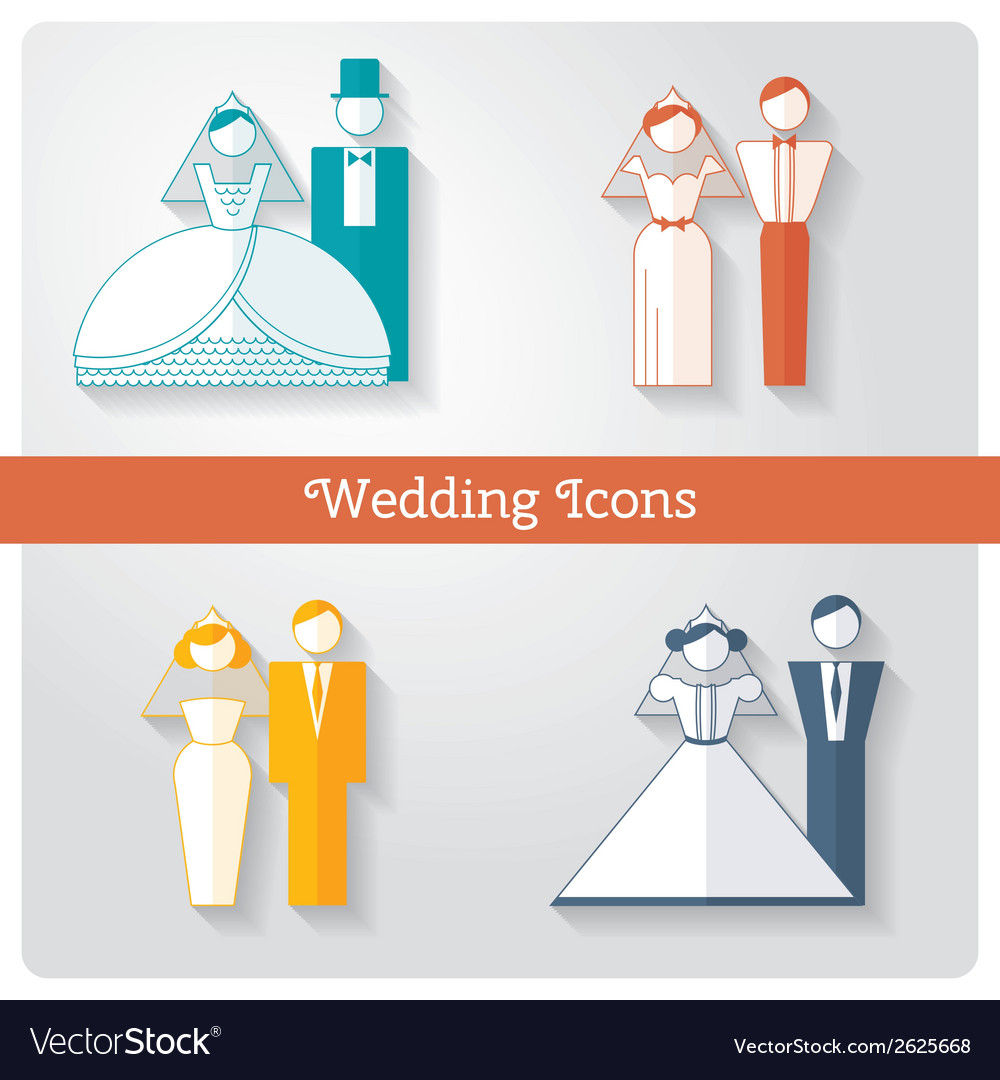 Set of wedding icons vector | Price: 1 Credit (USD $1)