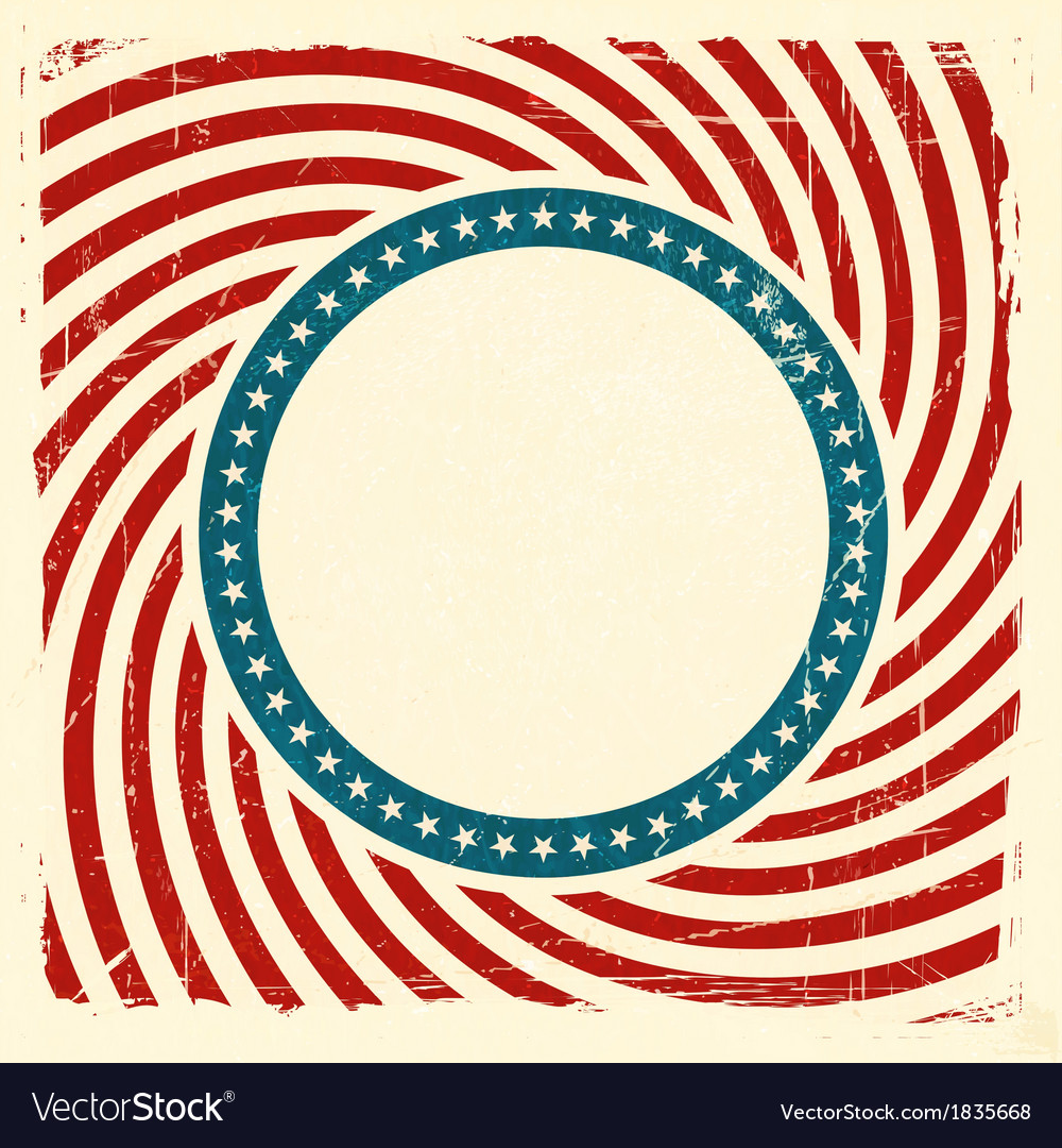 Swirly stripes and stars usa grunge background vector | Price: 1 Credit (USD $1)