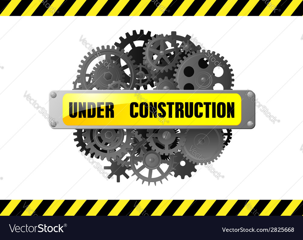 Under construction web page warning vector | Price: 1 Credit (USD $1)