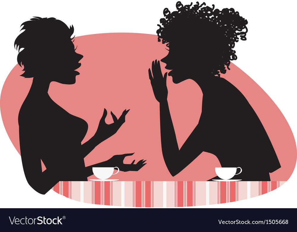 Women talking vector