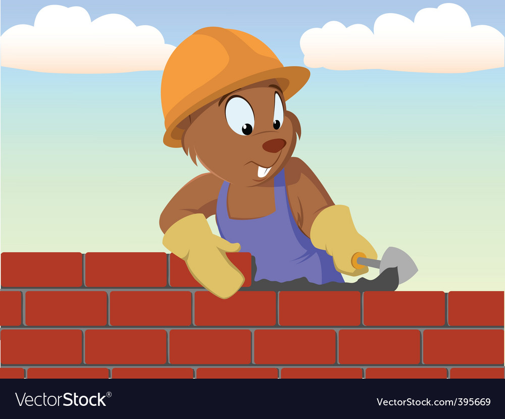 Bricklayer vector | Price: 1 Credit (USD $1)
