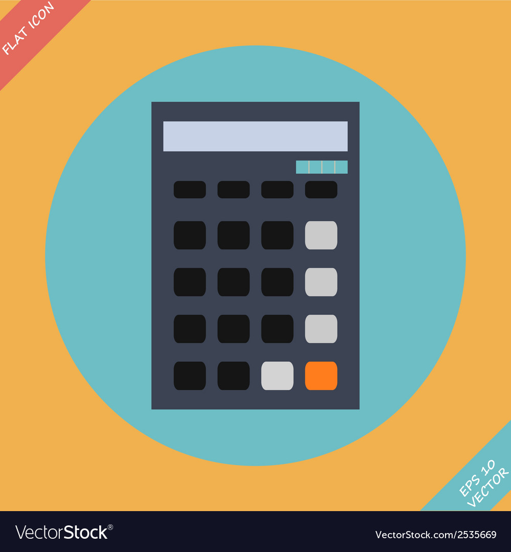 Calculator icon -  flat design vector | Price: 1 Credit (USD $1)