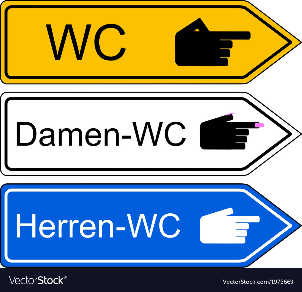 Direction sign wc vector | Price: 1 Credit (USD $1)