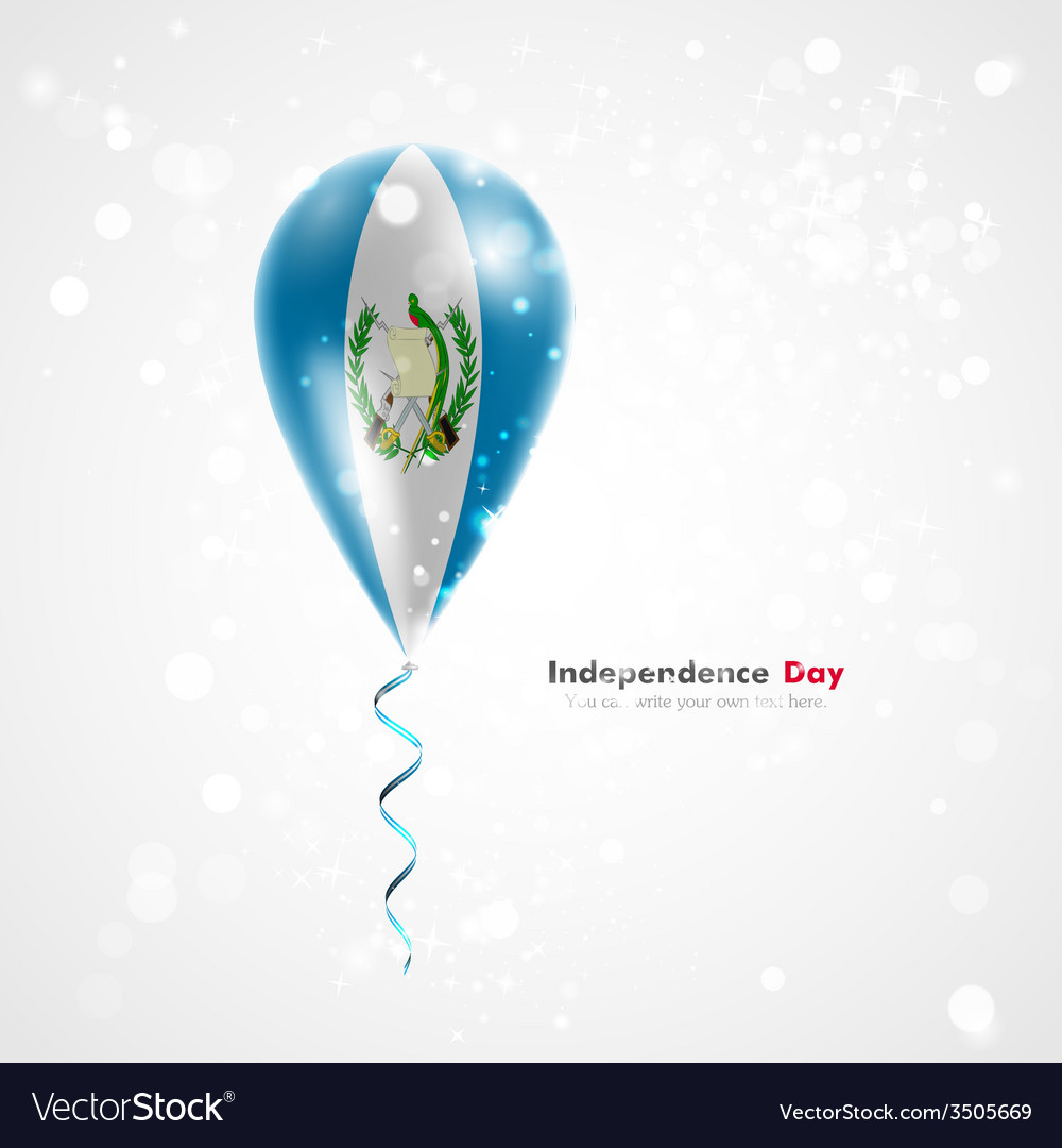 Flag of guatemala on balloon vector | Price: 1 Credit (USD $1)