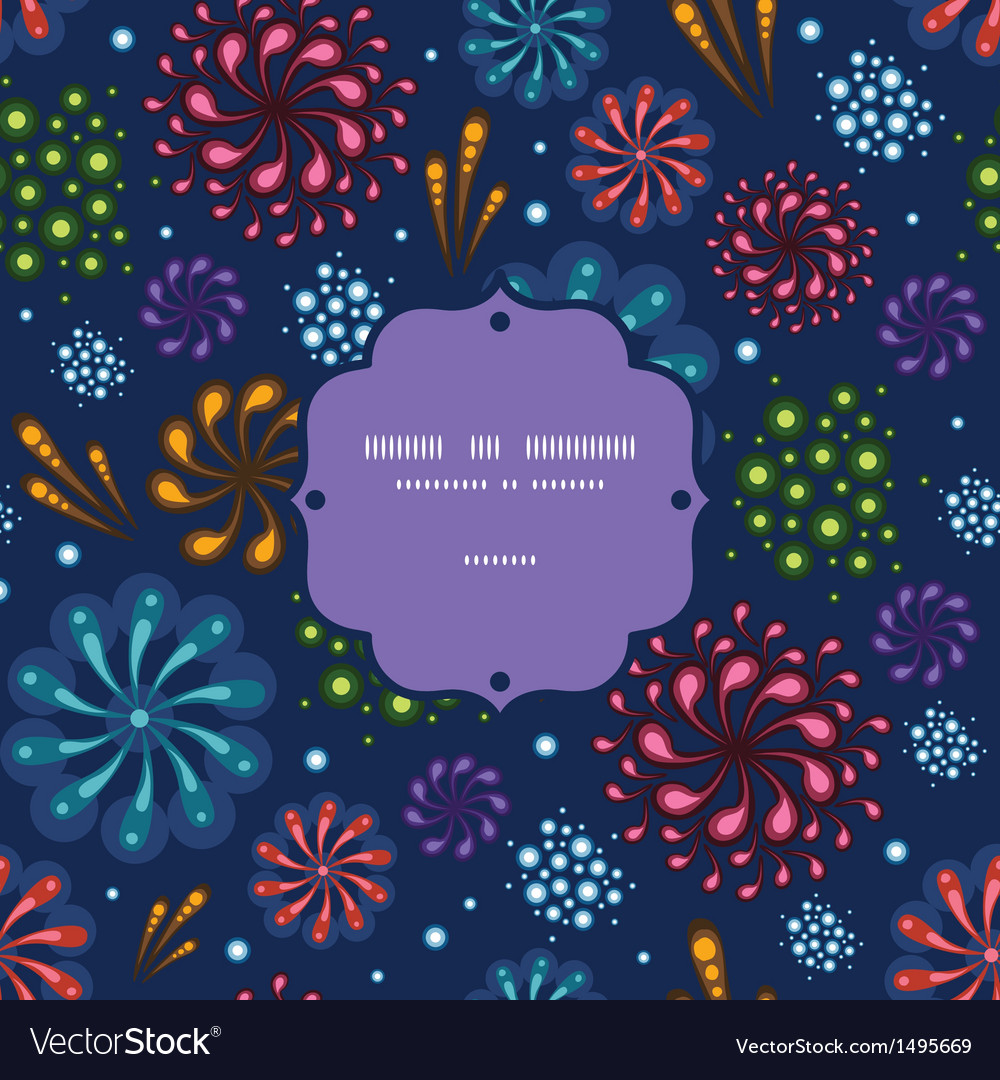 Holiday fireworks frame seamless pattern vector | Price: 1 Credit (USD $1)