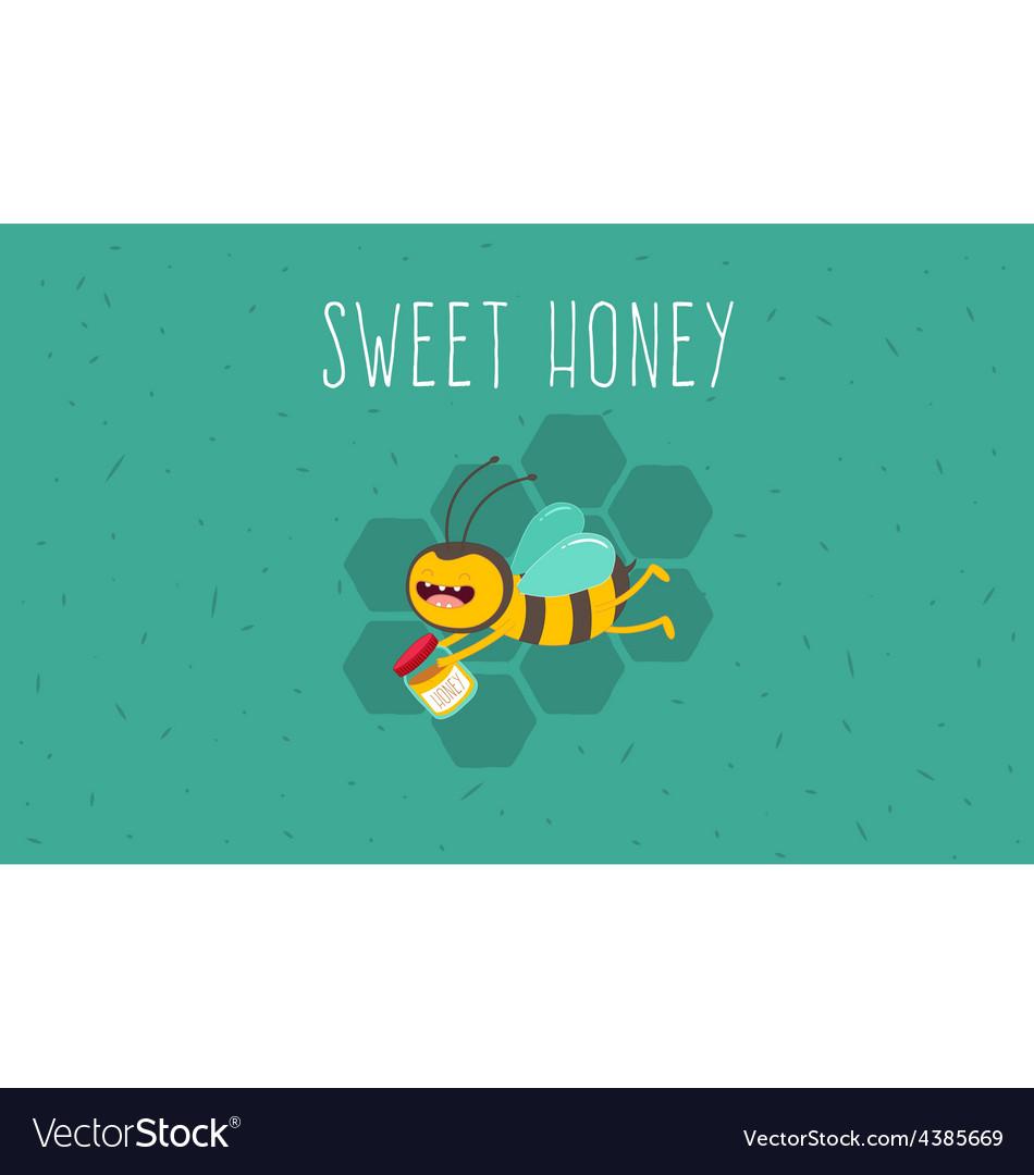 Honey bee vector | Price: 1 Credit (USD $1)