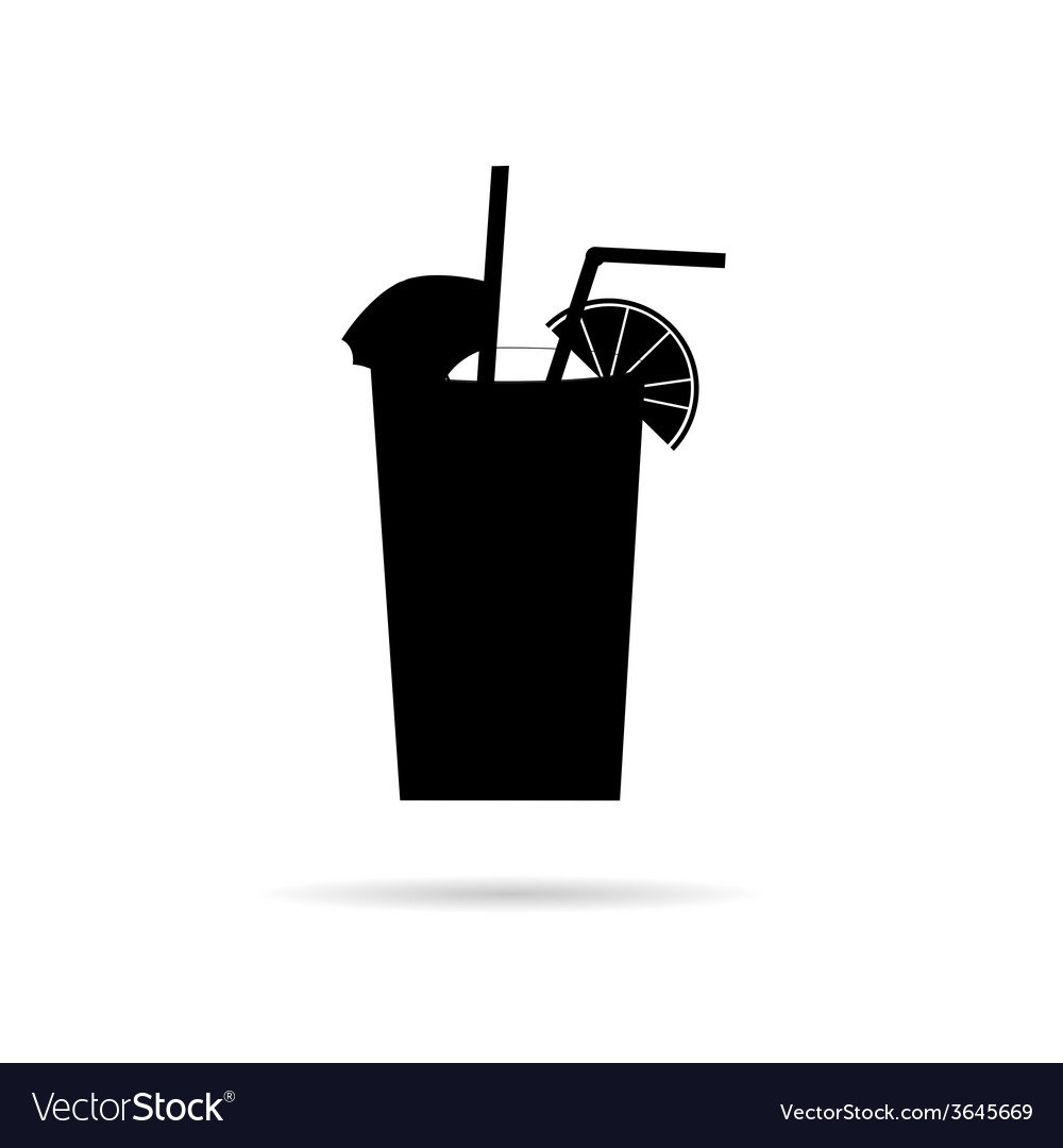 Juice in a glass black vector | Price: 1 Credit (USD $1)