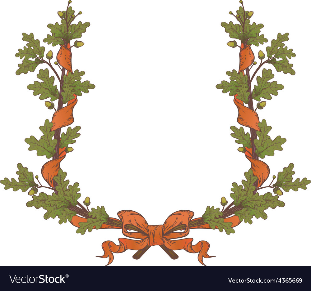 Oak wreath vector | Price: 1 Credit (USD $1)