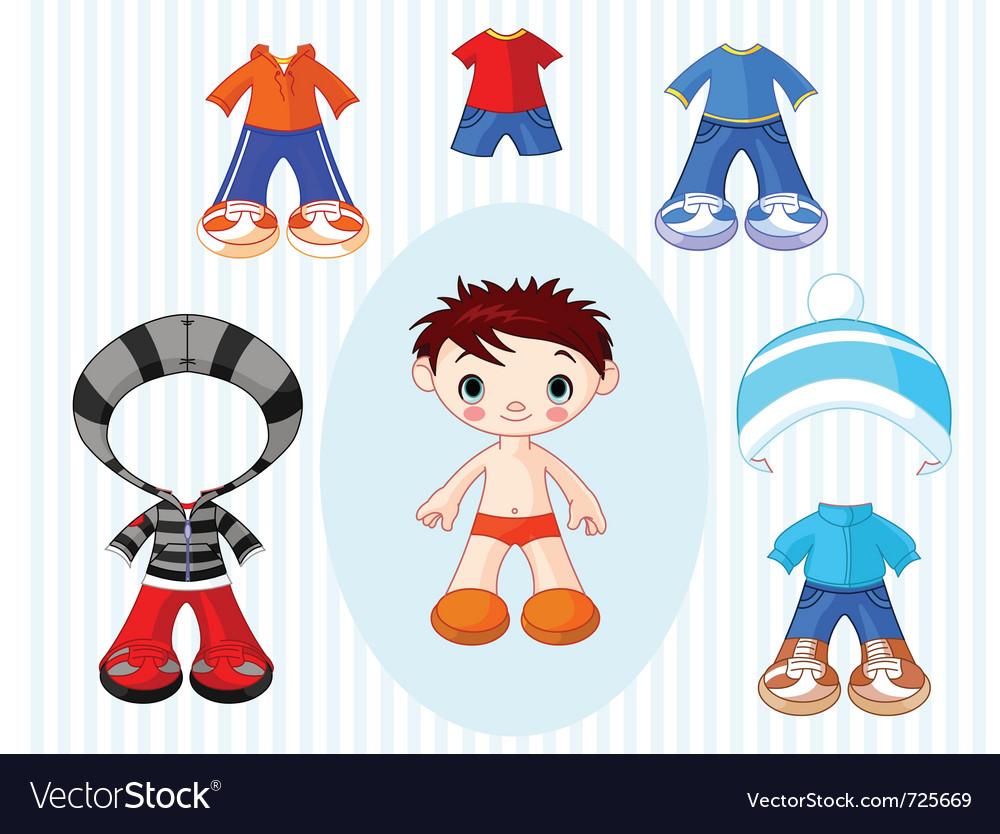Paper doll boy vector | Price: 3 Credit (USD $3)