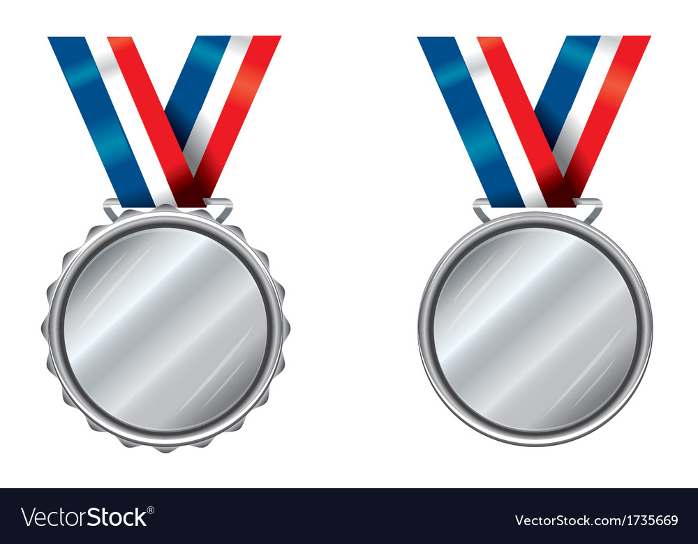 Silver medals vector | Price: 1 Credit (USD $1)