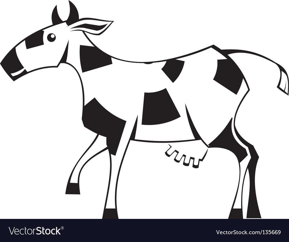 Stylization cow vector