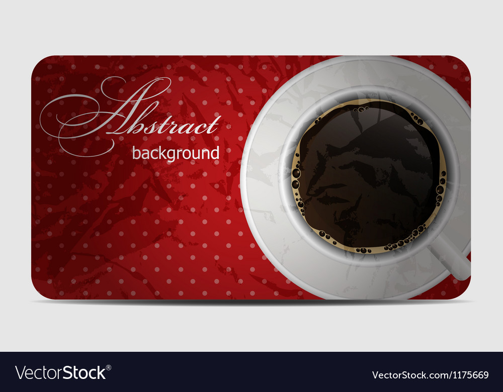 Vintage coffee gift card vector | Price: 1 Credit (USD $1)