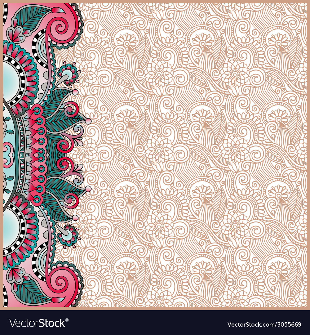 Vintage floral background for your design vector   Price: 1 Credit (USD $1)