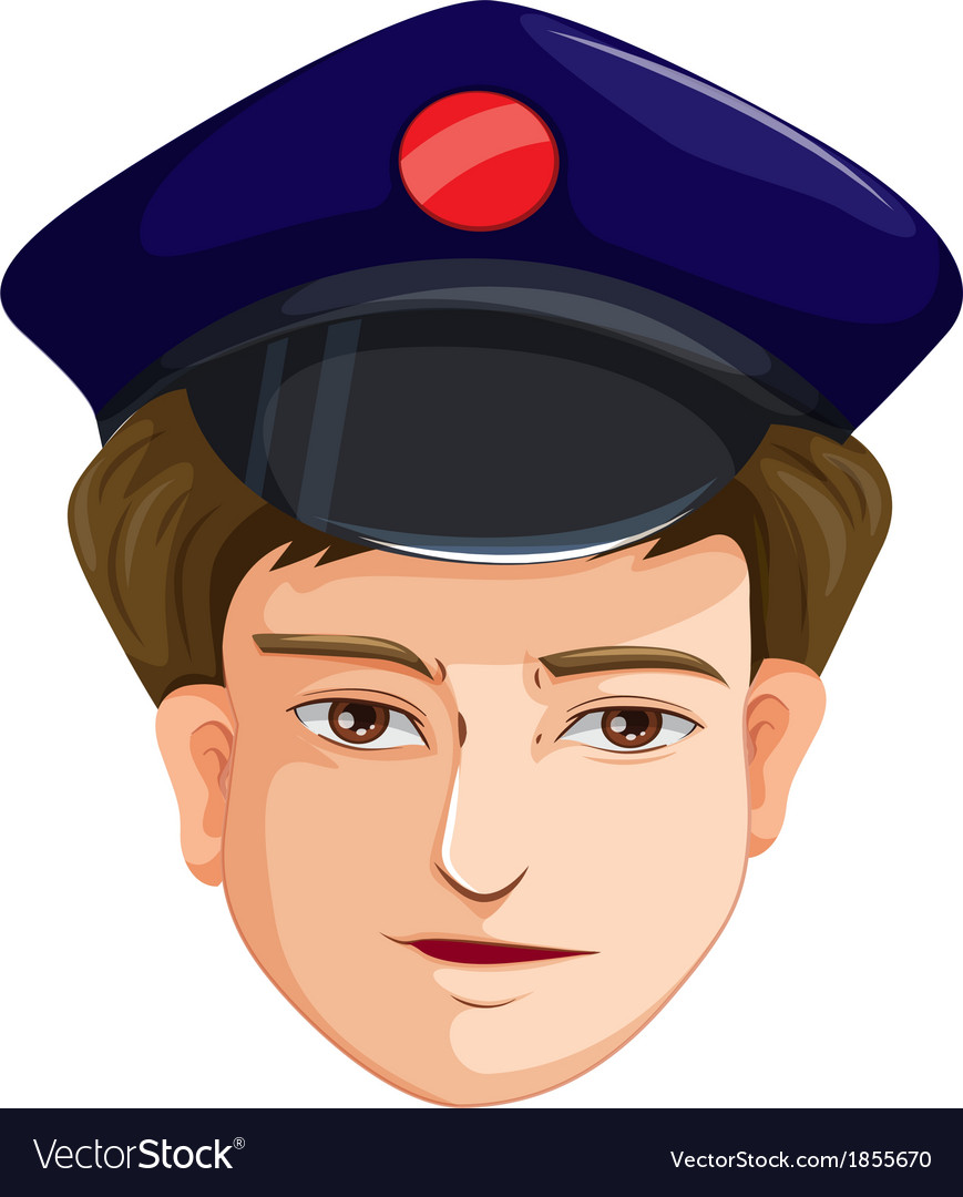 A head of a police agent vector | Price: 1 Credit (USD $1)