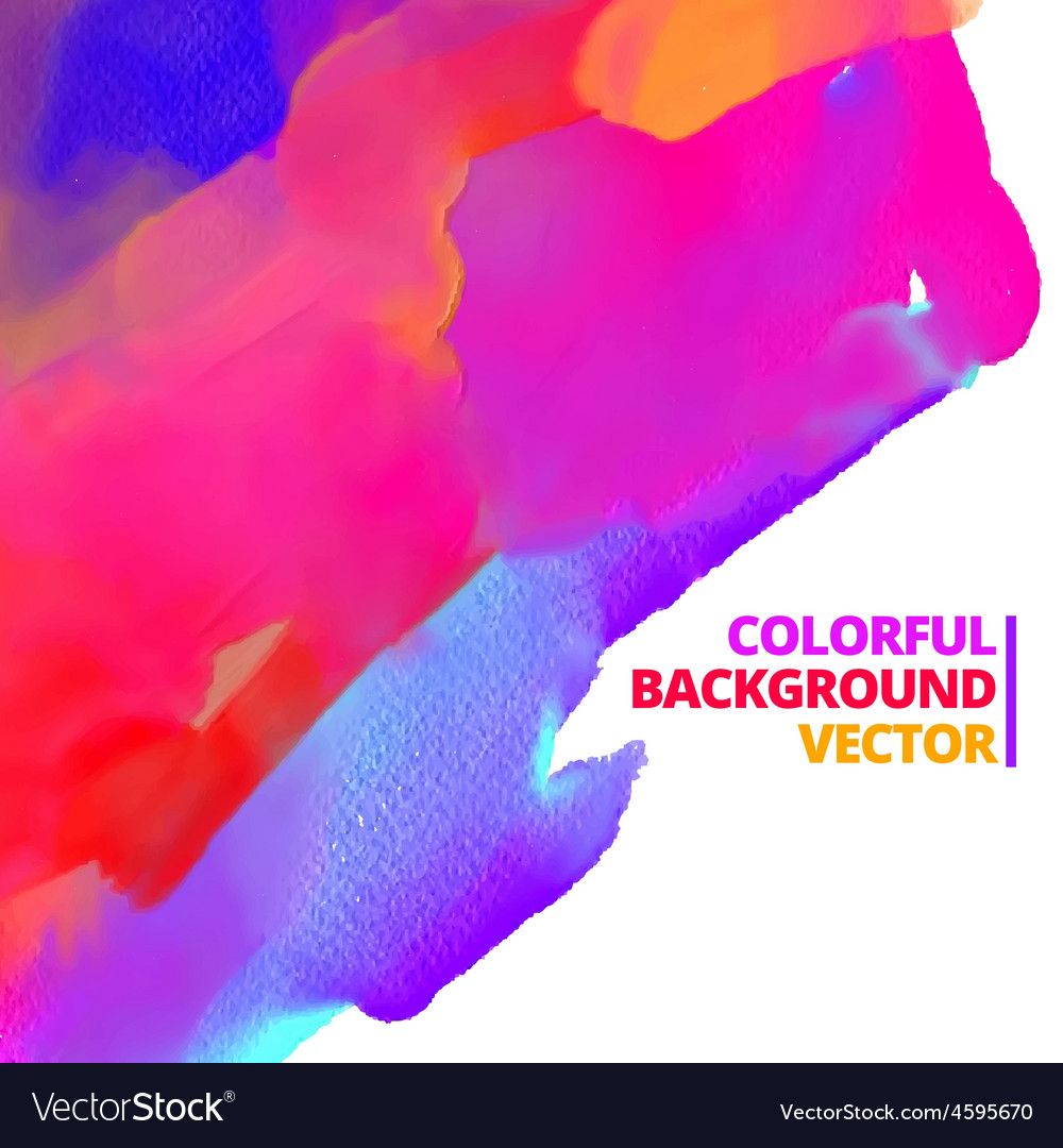Background of ink color paint design vector | Price: 1 Credit (USD $1)