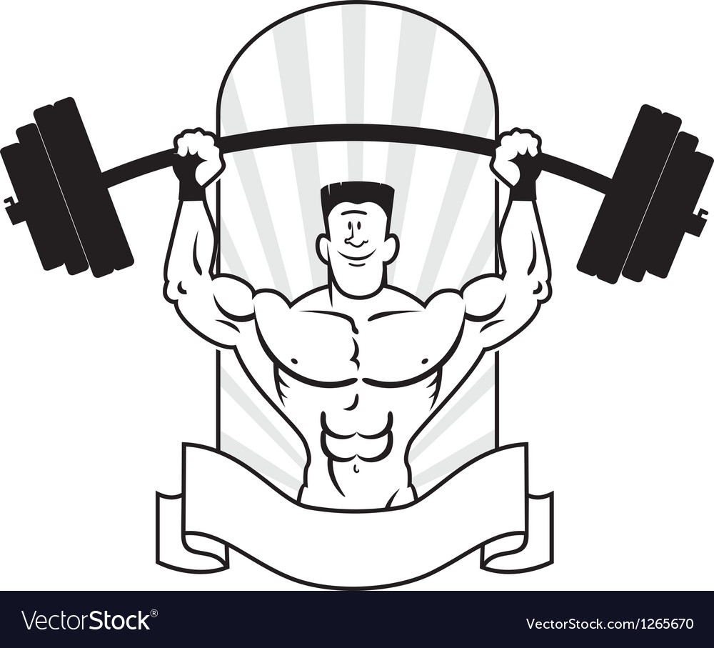 Bodybuilder logo vector | Price: 1 Credit (USD $1)
