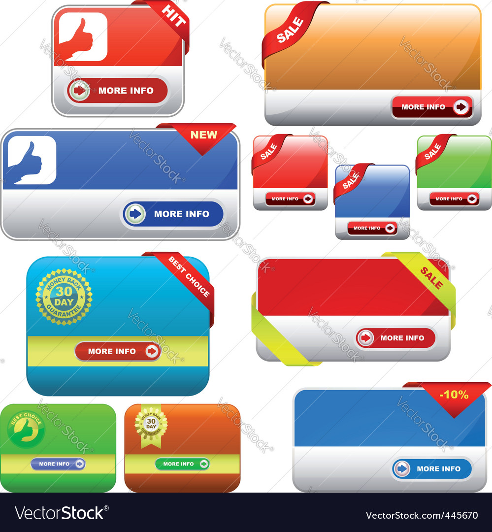 colorful vector banners vector | Price: 1 Credit (USD $1)