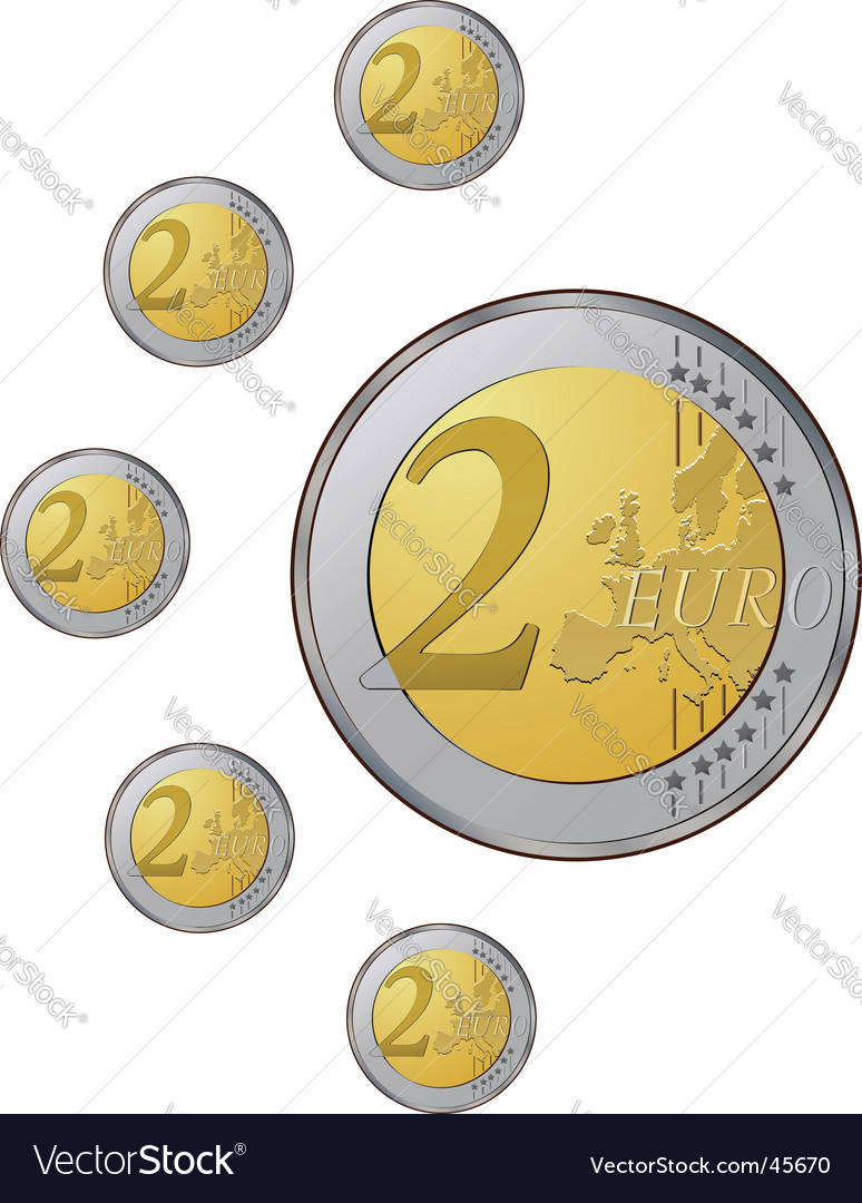 Euro coins vector   Price: 1 Credit (USD $1)