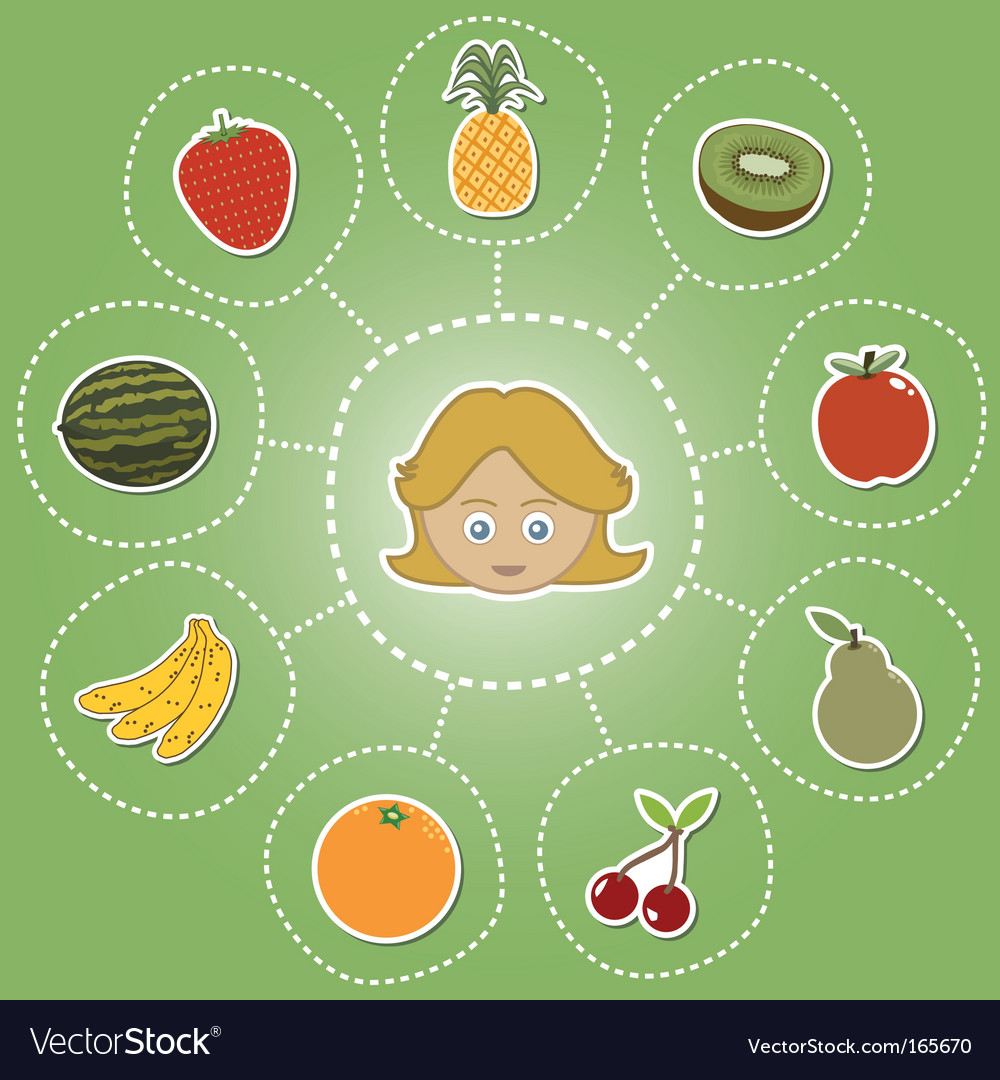Healthy food options vector | Price: 1 Credit (USD $1)