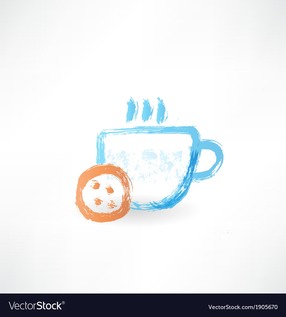Hot cup grunge icon vector | Price: 1 Credit (USD $1)