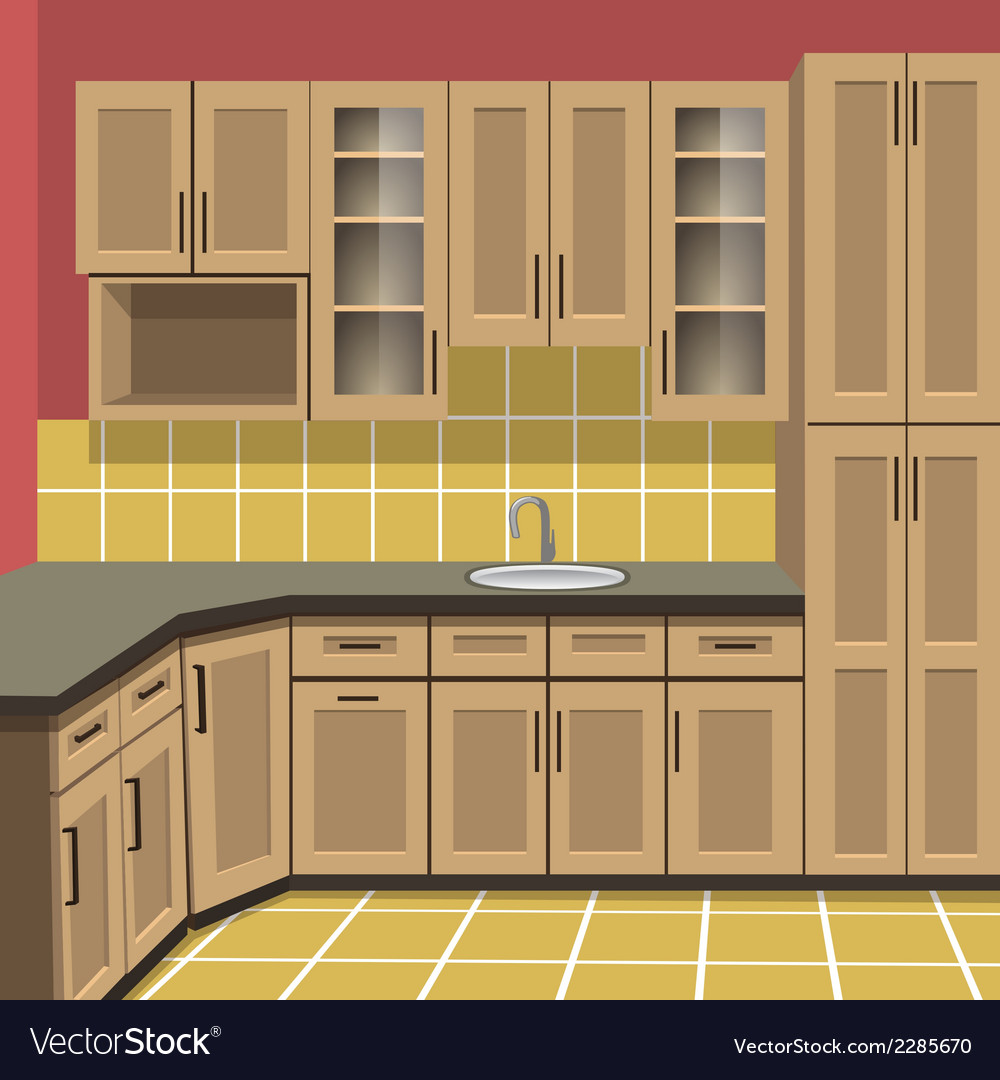 Kitchen room vector | Price: 1 Credit (USD $1)