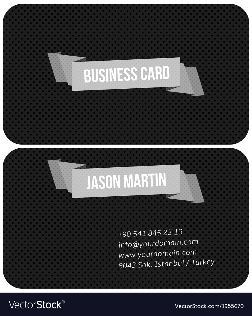 Metallic business card vector | Price: 1 Credit (USD $1)