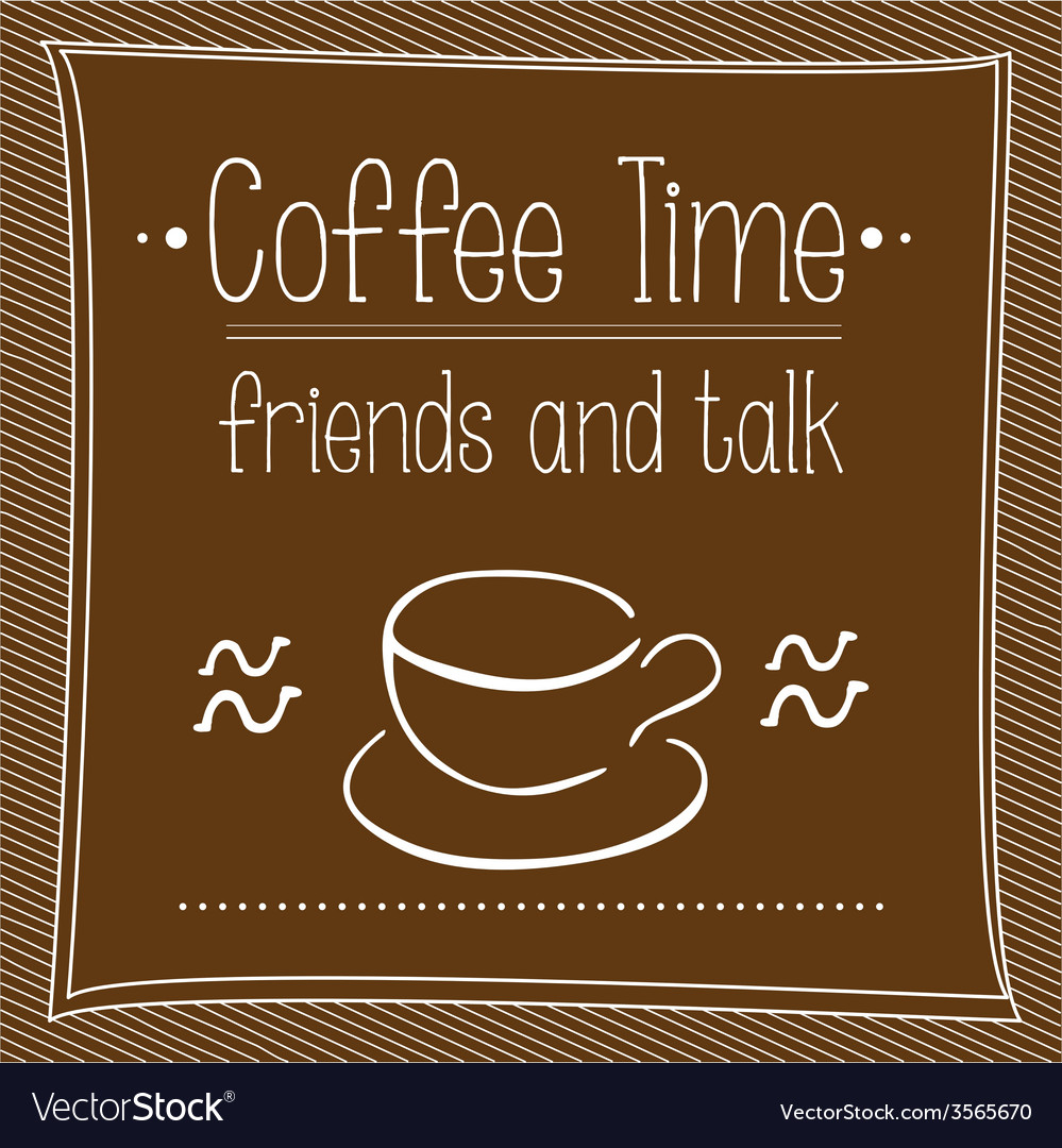 Poster coffee time vector | Price: 1 Credit (USD $1)