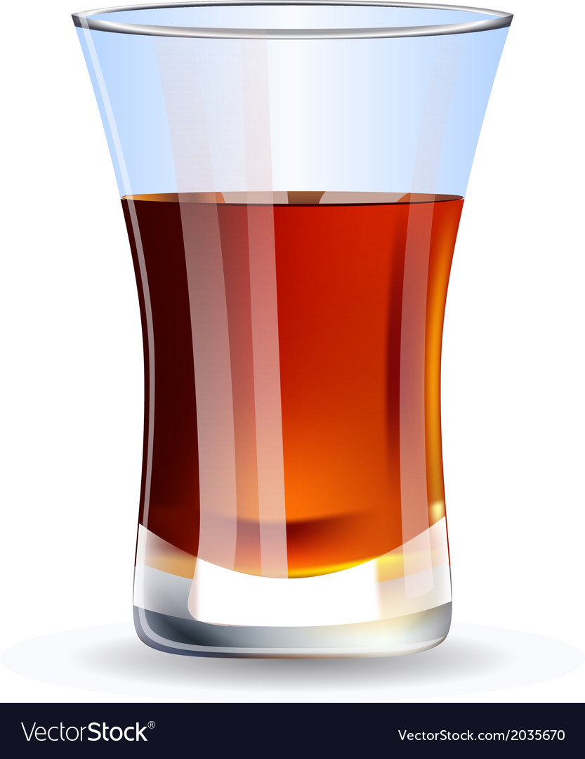 Shot of whiskey isolated on white background vector | Price: 1 Credit (USD $1)