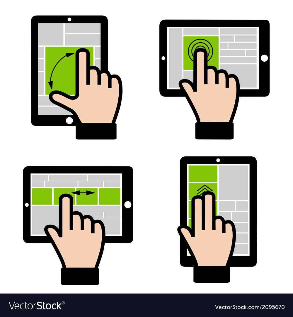 Touch gestures vector | Price: 1 Credit (USD $1)