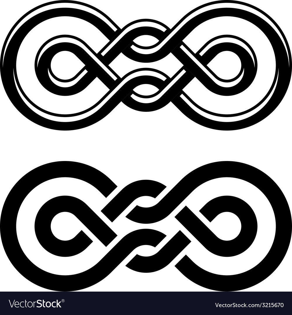 Unity knot black white symbol vector | Price: 1 Credit (USD $1)