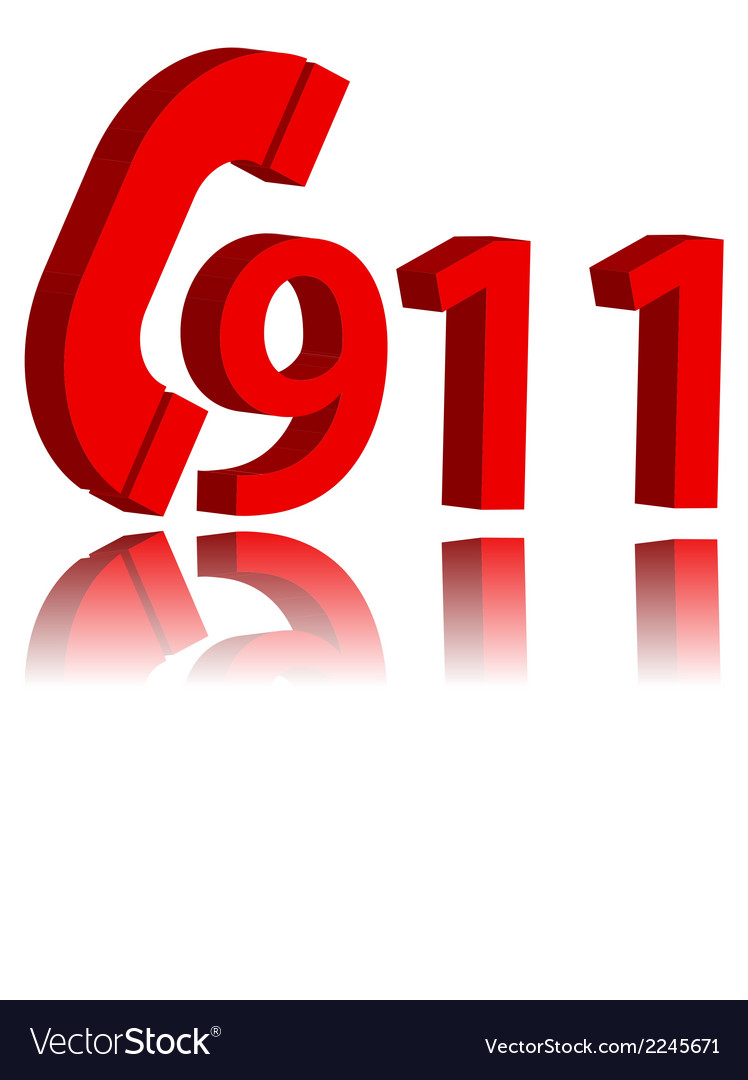 911 emergency symbol vector | Price: 1 Credit (USD $1)