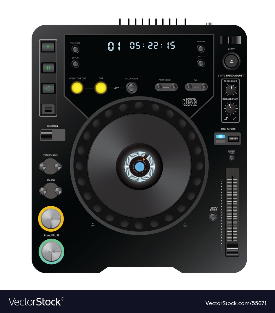 Dj cd player vector | Price: 1 Credit (USD $1)