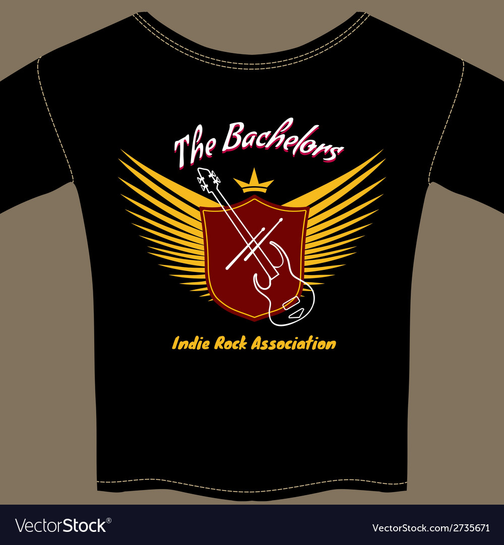 Indie rock t-shirt vector | Price: 1 Credit (USD $1)