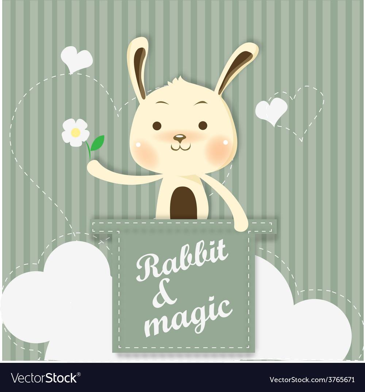 Magic bunny vector