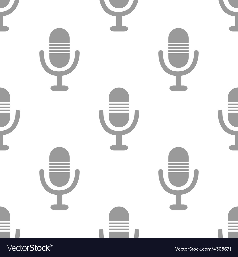 New microphone seamless pattern vector | Price: 1 Credit (USD $1)