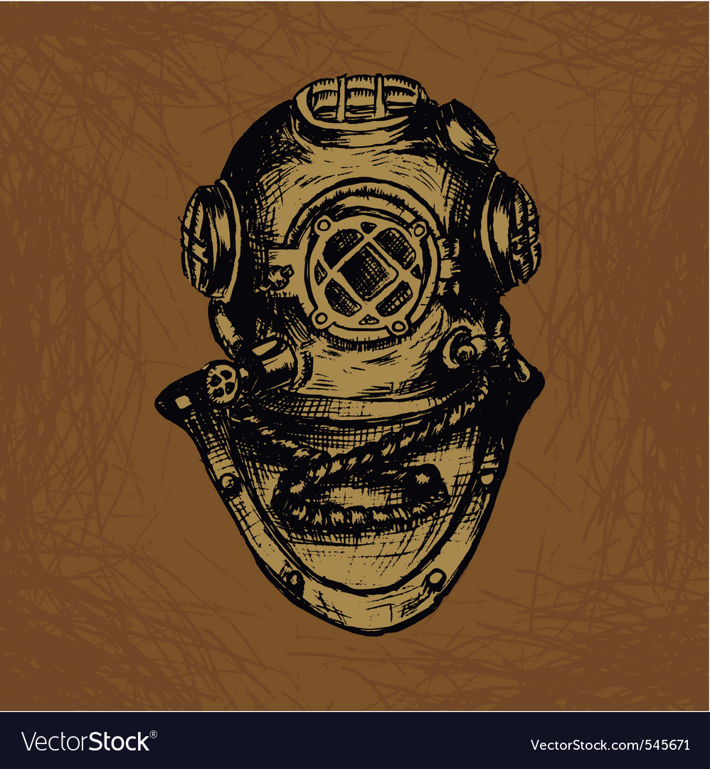 Old diver vector | Price: 1 Credit (USD $1)