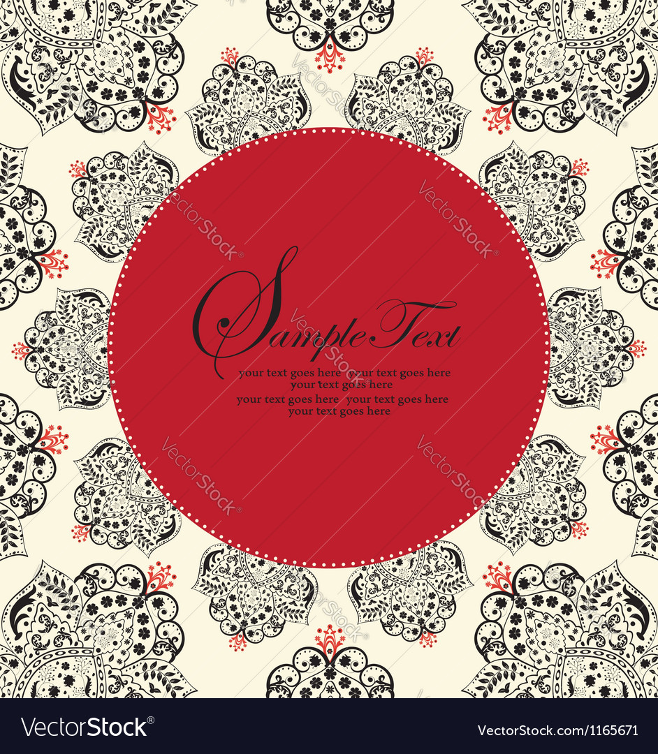 Ornate red and black frame vector | Price: 1 Credit (USD $1)