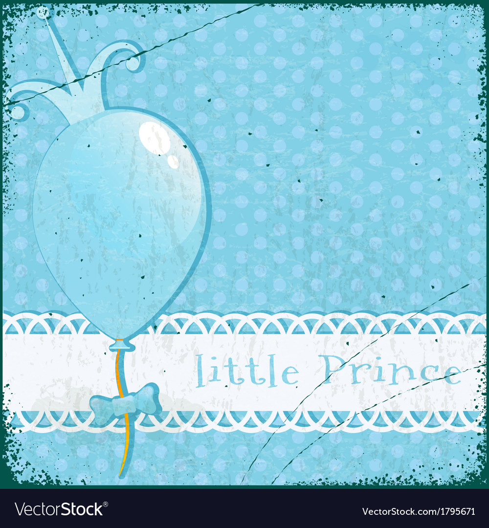 Retro background little prince vector | Price: 1 Credit (USD $1)