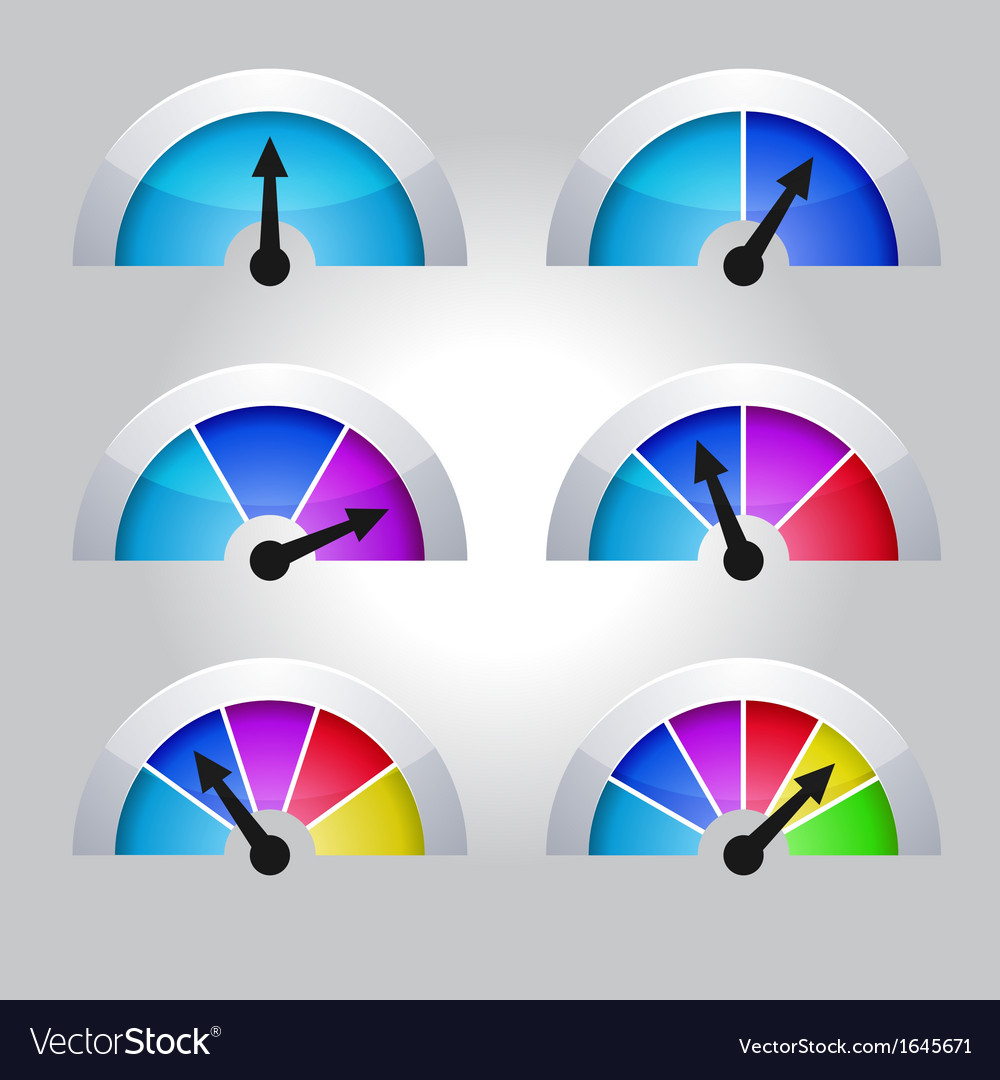Set of indicators diagram vector | Price: 1 Credit (USD $1)