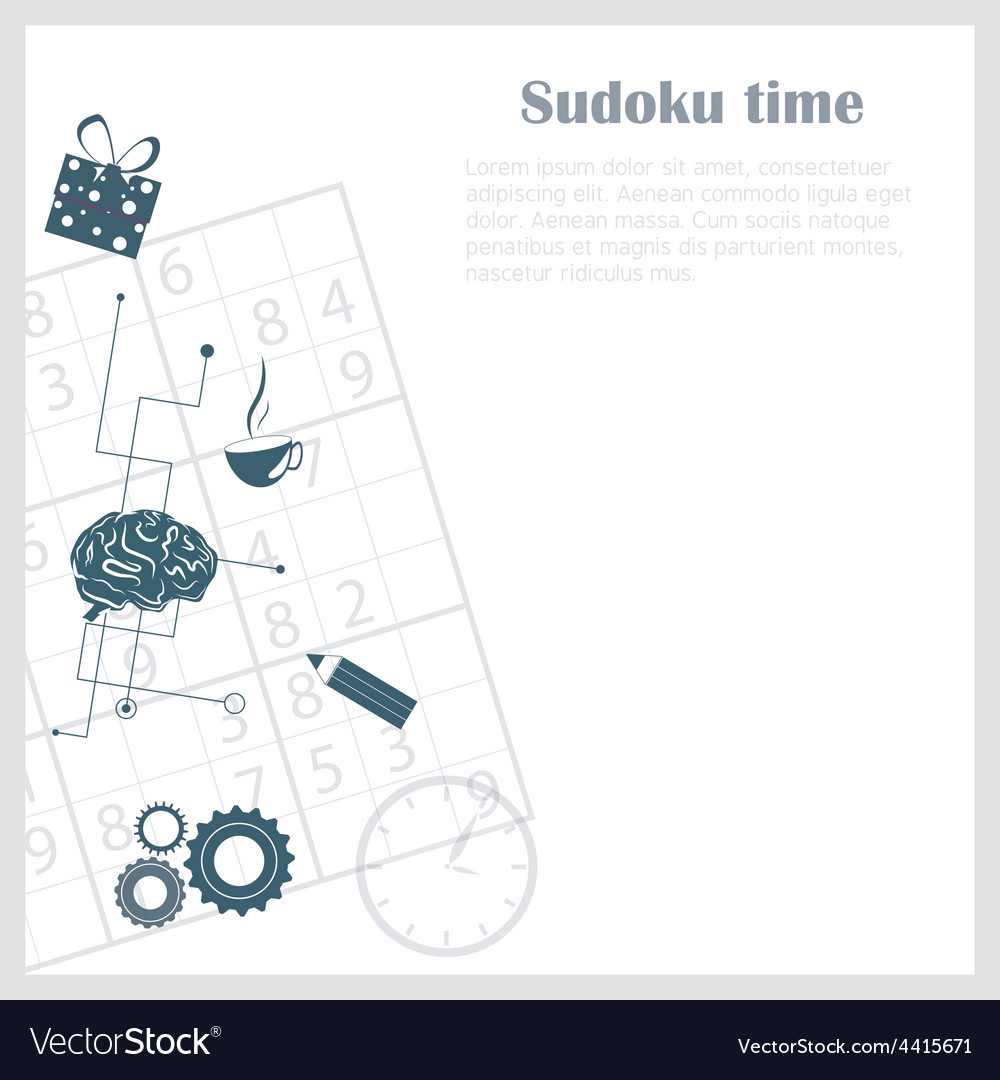 Sudoku background vector | Price: 1 Credit (USD $1)