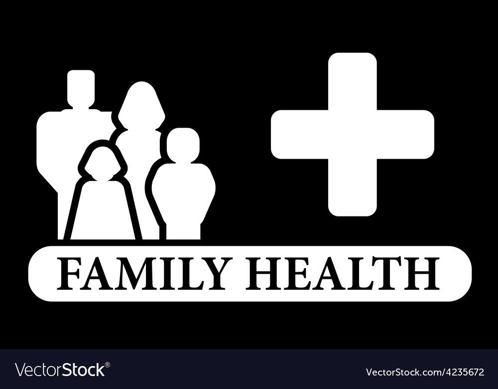 Black family health icon vector | Price: 1 Credit (USD $1)
