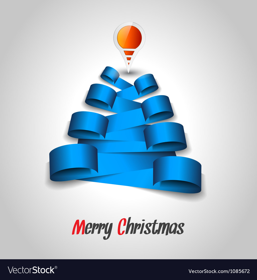 Christmas tree tag design vector
