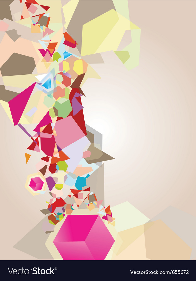 Colorful geometric shapes vector | Price: 1 Credit (USD $1)