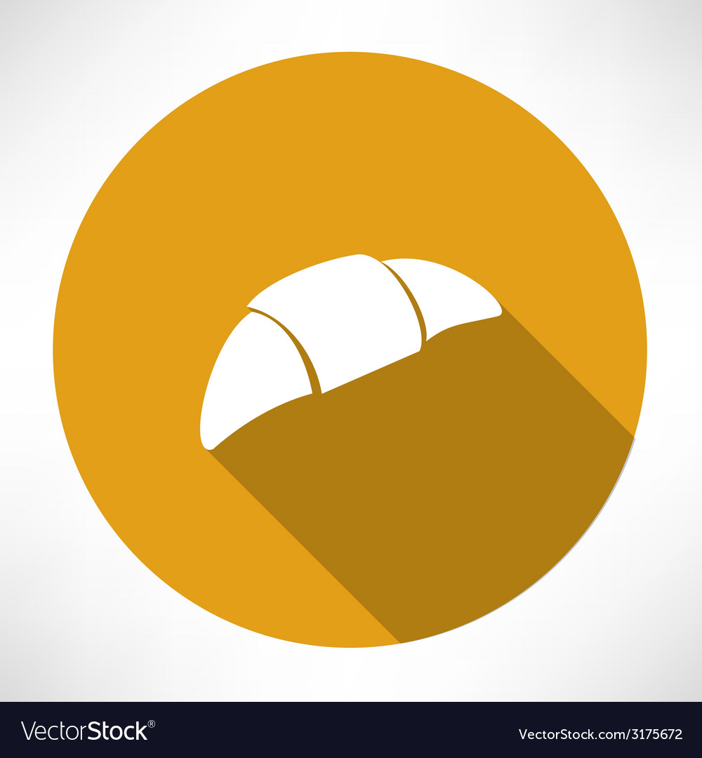 Croissant icon vector | Price: 1 Credit (USD $1)
