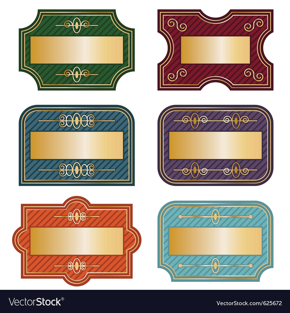 Decorative labels vector | Price: 1 Credit (USD $1)