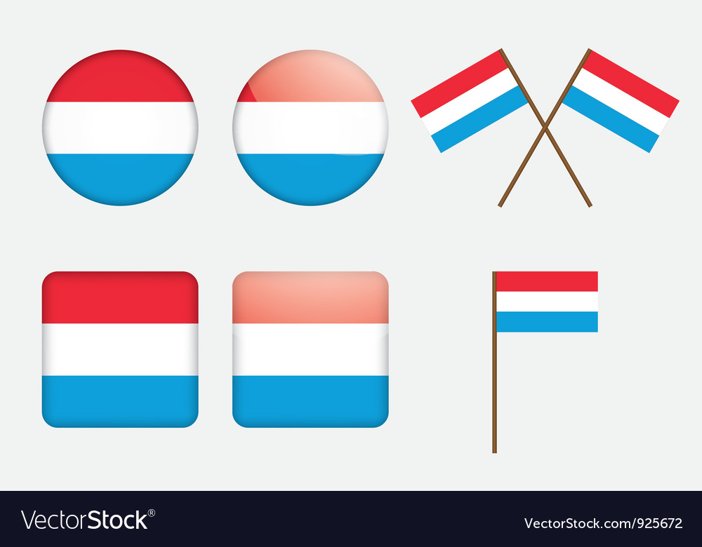 Flag of luxembourg vector | Price: 1 Credit (USD $1)