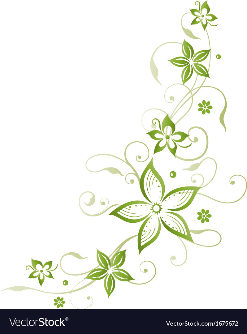 Flowers floral element vector | Price: 1 Credit (USD $1)