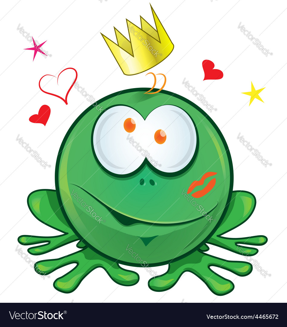 Frog cartoon crazy for love vector | Price: 1 Credit (USD $1)