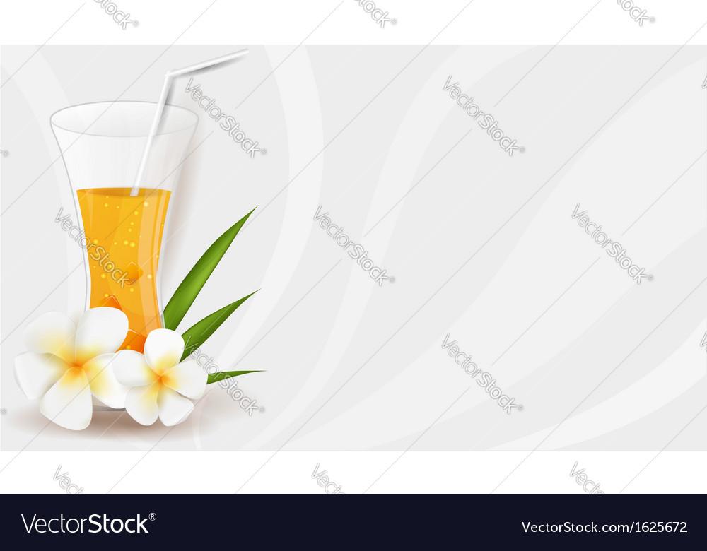 Healthy juice banner vector | Price: 1 Credit (USD $1)